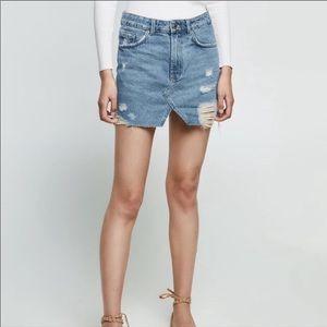 Zara Distressed Mini Jean Skirts Size XS